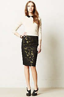 Love this!! Anthropologie - Camo Pencil Skirt