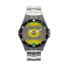 Mitosis Fractal Watch   Gorgeous Abstract  Fractal Watch!  This watch is available in a total of 8 different styles and many other different designs and colors!    #Sale #art #artistic #abstract #Fractal #Watch #Zazzle