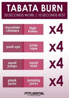 HIIT and TABATA workouts