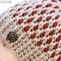 Crochet hat pattern - Speckled Ridge Beanie (Hat) by Northern Knots - Pom Pom hat - winter crochet hat - chunky crochet hat pattern - winter beanie pattern - easy crochet pattern Chunky Crochet Hat, Crochet Winter Hats, Crochet Beanie Pattern, Easy Crochet Patterns, Headband Pattern, Crocheted Hats, Crochet Ideas, Crochet Crafts, Crochet Yarn