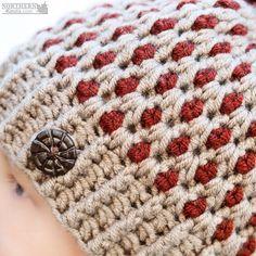 Crochet hat pattern - Speckled Ridge Beanie (Hat) by Northern Knots - Pom Pom hat - winter crochet hat - chunky crochet hat pattern - winter beanie pattern - easy crochet pattern