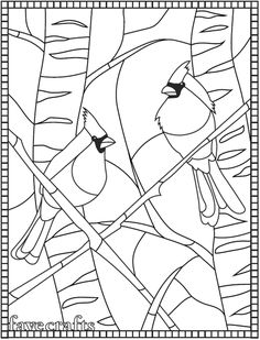 Bird coloring pages - Winter Cardinal Coloring Page Coloring Pages Winter, Bird Coloring Pages, Pattern Coloring Pages, Adult Coloring Book Pages, Coloring Sheets, Coloring Books, Free Christmas Coloring Pages, Kids Coloring, Free Mosaic Patterns