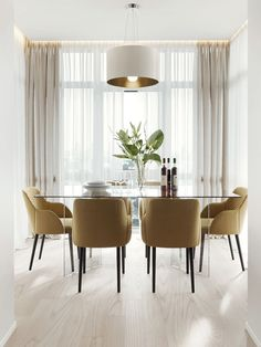 Get Your Dining Room Decor In Check For This Summer - Innenarchitektur - Esszimmer Dining Room Lamps, Dining Table Lighting, Glass Dining Table, Modern Dining Table, Dining Room Design, Dining Room Furniture, Dining Area, Modern Furniture, Elegant Dining