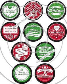 Bottle Cap Images -Bright Christmas