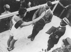 "mein-fuehrer: "" An athlete salutes Hitler at a ceremony to demonstrate loyaty to the Saar district at the Ehrenbreitstein fortress in Koblenz. """