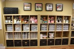 craft room organization - I like the very neat appearance!