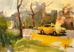 DPW Fine Art Friendly Auctions - Central Park Taxi by Francesco Fontana