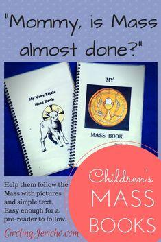 Mass for Catholic kids book Catholic Prayer Book, Catholic Catechism, Catholic Religious Education, Catholic Crafts, Catholic Books, Catholic Kids, Catholic Prayers, Kids Church, Catholic Homeschooling