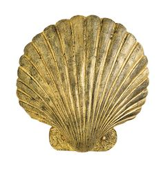 The Mermaid wall sconce by @curreyco captures a sophisticated coastal aesthetic with its scallop shell design in a Chinois antique gold leaf finish.