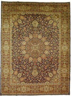 Hand Knotted Kerman Rug