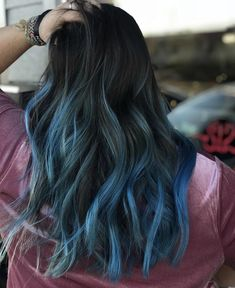 Online Scheduling for Salons and Spas. Teal Ombre Hair, Dyed Hair Blue, Balayage Brunette, Exotic Hair Color, Hair Color Blue, Hair Colors, Balyage Hair, Blue Hair Highlights, Products