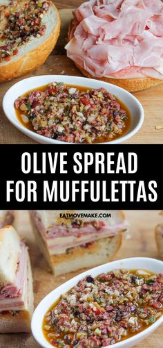 If you love muffulettas from New Orleans, this olive spread for muffulettas is exactly what you've been craving. This olive salad recipe is just like the famous Central Grocery Co muffulettas! Easy, d Muffaletta Olive Spread Recipe, Muffuletta Olive Salad Recipe, Sandwich Recipes, Sandwich Ideas, Best Casseroles, Sandwich Spread, Easy Eat, Delicious Sandwiches, Cooking Recipes