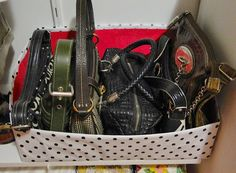 Como guardar as bolsas