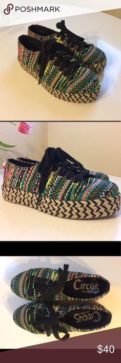 Sam Edelman Woven Platform Sneaker Great condition! Only minor signs of wear. Circus by Sam Edelman Shoes Espadrilles