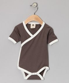 Take a look at this Pebble Organic Kimono Bodysuit - Infant by Kate Quinn Organics on #zulily today!