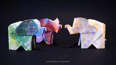 Tres elefantes, se columpiaban ..... 🎶 origami #origamis #origamist #sunshowersite #origamiart #artedeorigami #origamisunshower #paper… Origami Animals, Origami Art, Paper Folding, Logos, Crafts, Diy, Manualidades, Bricolage, Logo