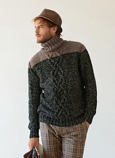 A great big cable adorns the front of this trendy marled wool sweater. The sweater is knitted in rib, reverse stocking stitch and cable stitch on 4 mm - mm needles and a cable needle. Dope Sweaters, Outing Outfit, Knitwear Fashion, Men's Knitwear, Quirky Fashion, Knitting Patterns, Knit Crochet, Men Sweater, Thing 1