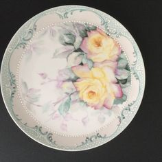Pamela Millspaw uploaded this image to 'China Paintings/Yellow and Ruby Rose'.  See the album on Photobucket.