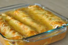 Cheesy gooey chicken wrapped in a soft shell! Yum #cheese #enchilada