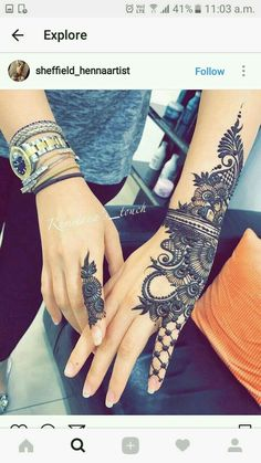 Beautiful Mahandi design..