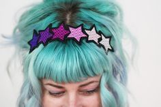 gradient purple to black fabric with stars - Google Search