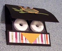 Owl lifesavers - or any design or wording you choose; put your business info on the back flap for marketing tool