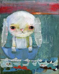 Another sweet bunny by Mindy Lacefield (Tim's Sally) on Etsy