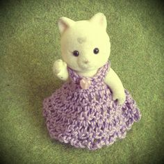Sylvanian families/Calico critters DIY -crochet adult dress
