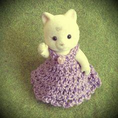 Sylvanian families/Calico critters DIY -crochet adult dress