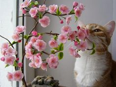 Polymer Clay Cherry Blossom Tutorial by Tatiana Amazonka