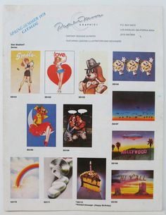 Catalog Paper moon cards 1978
