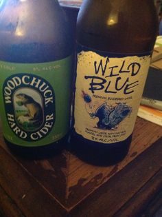Try a Wild Granny. Mix equal parts Granny Smith Woodchuck Hard Cider and Wild Blue Blueberry Lager. It's Good!!! The Wild Blue is a bit sweet so the Woodchuck cuts it a bit. You're welcome!