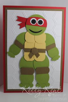 Posts about Punch Art Instructions written by Kelly Kent Boy Cards, Kids Cards, Cute Cards, Paper Punch Art, Punch Art Cards, Ninja Turtle Birthday, Ninja Turtles, Birthday Cards For Boys, Animal Cards