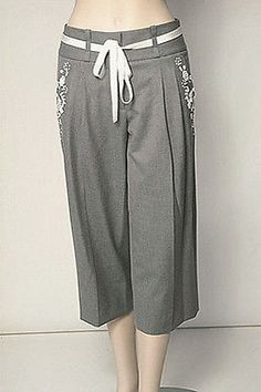Robert Rodriguez Cropped Trousers Womens Pants Gray Size 4