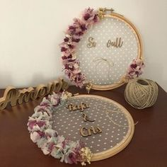Names of girls # girls # Names - Babyzimmer Ideen Name Of Girls, Diy Wedding, Wedding Gifts, Wedding Lace, Decoration Buffet, Deco Champetre, Embroidery Hoop Crafts, Wedding Embroidery, Deco Originale