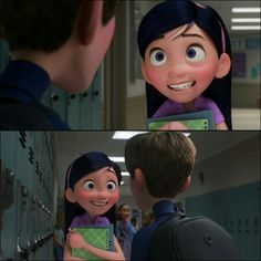 Violet is so cute just like her twin lol Disney Pixar, Disney Fan Art, Disney And Dreamworks, Disney Movies, Funny Memes Tumblr, Have Courage And Be Kind, Disney Crossovers, Disney And More, Girly Stuff