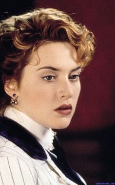 Kate Winslet's Titanic updo. Loved her hair in this scene!