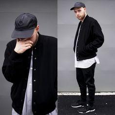 American Apparel Nylon Snapback, American Apparel Wool Club Jacket, Adidas Tiro 15 Pants, Adidas Zx Flux