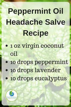Make your own peppermint oil headache relief salve with this simple diy essential oil headache recipe!