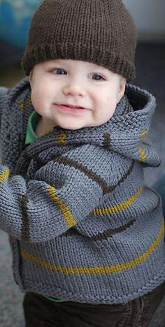 Ravelry: Stormy Jacket & Bark Cap pattern by Hannah Fettig. So stinking cute.