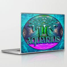 Aquarius Zodiac Laptop & iPad Skin