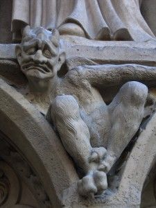 ...gotta love master artists then...anatomically correct gargoyles! Doubt that would work today!