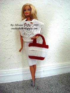 Poncho for Barbie ♥LCD♥ with diagram --- Túnica em crochet para Barbie Glam!