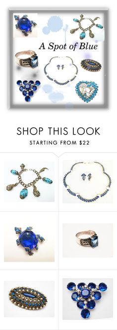 """""""A Spot of Blue"""" by cindydcooley ❤ liked on Polyvore featuring vintage"""