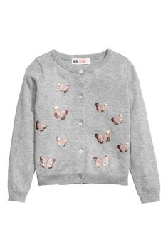 Fine-knit Sweater | Light pink/feather | Kids | H&M US | Chloe ...