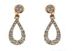 Ladies Rose Gold Earrings With White Diamonds 4.40CT  #diamondearrings #womensfashion #rosegoldjewelry #rosegolddiamondearrings #diamonddangleearrings