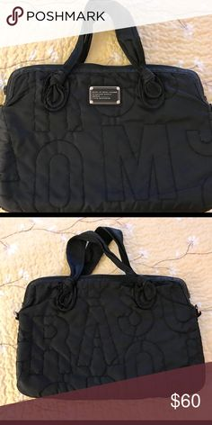 "Marc Jacobs Laptop Bag! Marc Jacobs Laptop Bag! Normal wear over a year period. In good condition. Nylon material. Fits 13"" MacBookNo shoulder strap. If I do find it I will personally ship it to buyer for no cost. However, you are just purchasing the bag without the strap. Make an offer and enjoy!😘 Marc Jacobs Bags Laptop Bags"