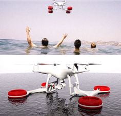Drone with Water Landing attachments!