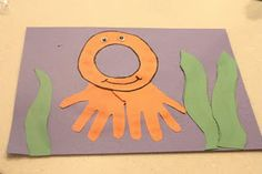 Under the Sea Activities - I Can Teach My Child! letter o week Letter O Crafts, Abc Crafts, Alphabet Crafts, Alphabet Art, Letter Art, Preschool Crafts, Kids Crafts, Animal Crafts, Sea Activities