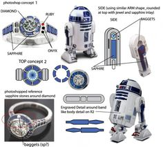 R2D2 Engagement ring